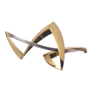 Artist Jewelry by Chris Steenbergen gold and silver brooch